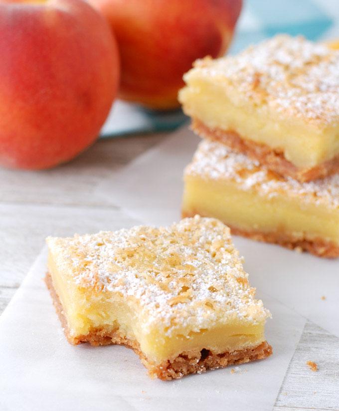 peach custard recipe