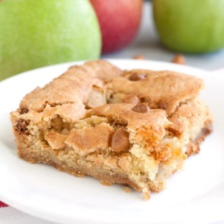 Fresh apple cake with butterscotch chips