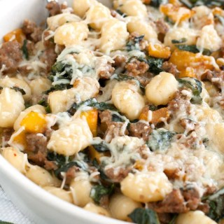Gnocchi with Squash, Kale and Sausage