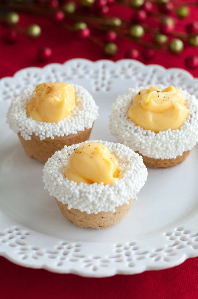 Cookie cups on a plate