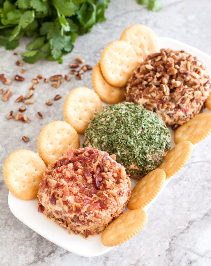 pimento cheese balls on a plate