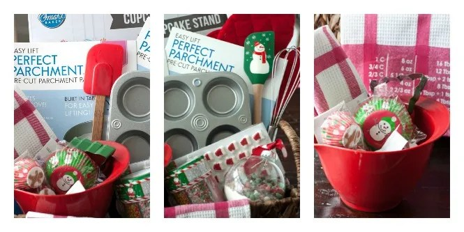 Making a DIY Baking Gift Basket is easy and fun. A great gift for friends who loves baking and being in the kitchen.