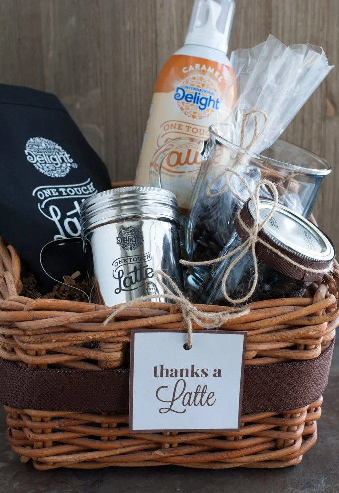Salted Caramel Latte with Thanks A Latte Gift Basket