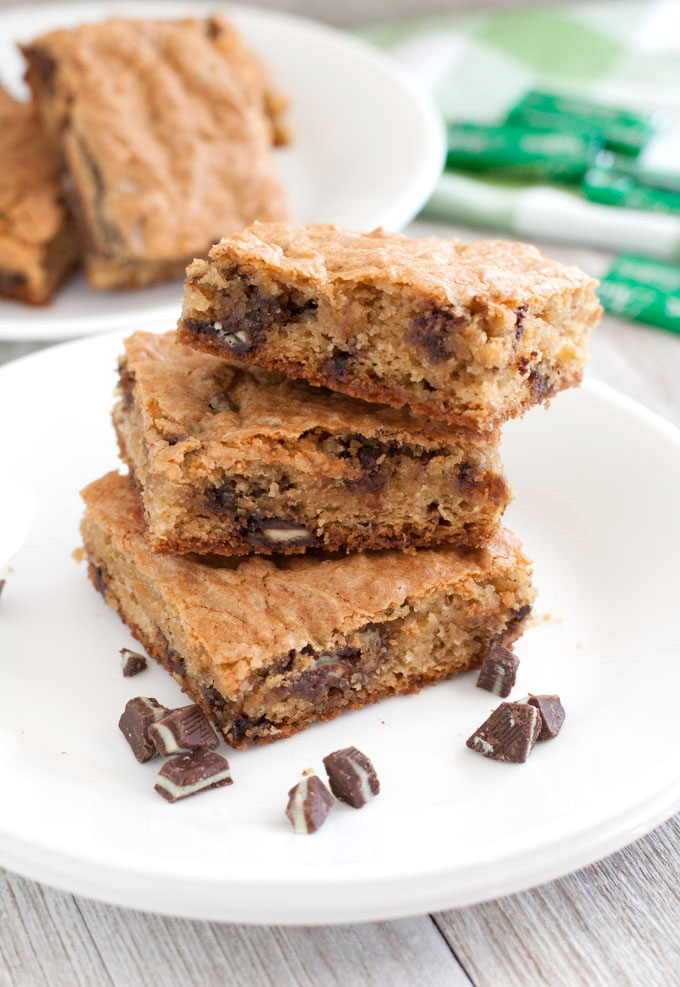 Cookie Bars with Andes mints