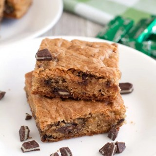 Soft Batch Andes Mint Cookie Bars