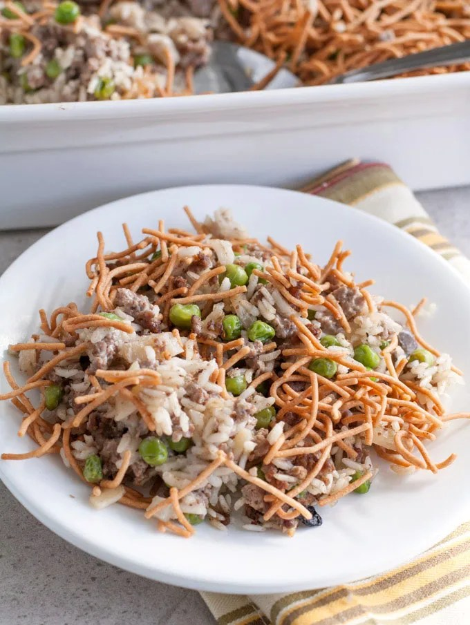 Asian Beef and Rice Casserole