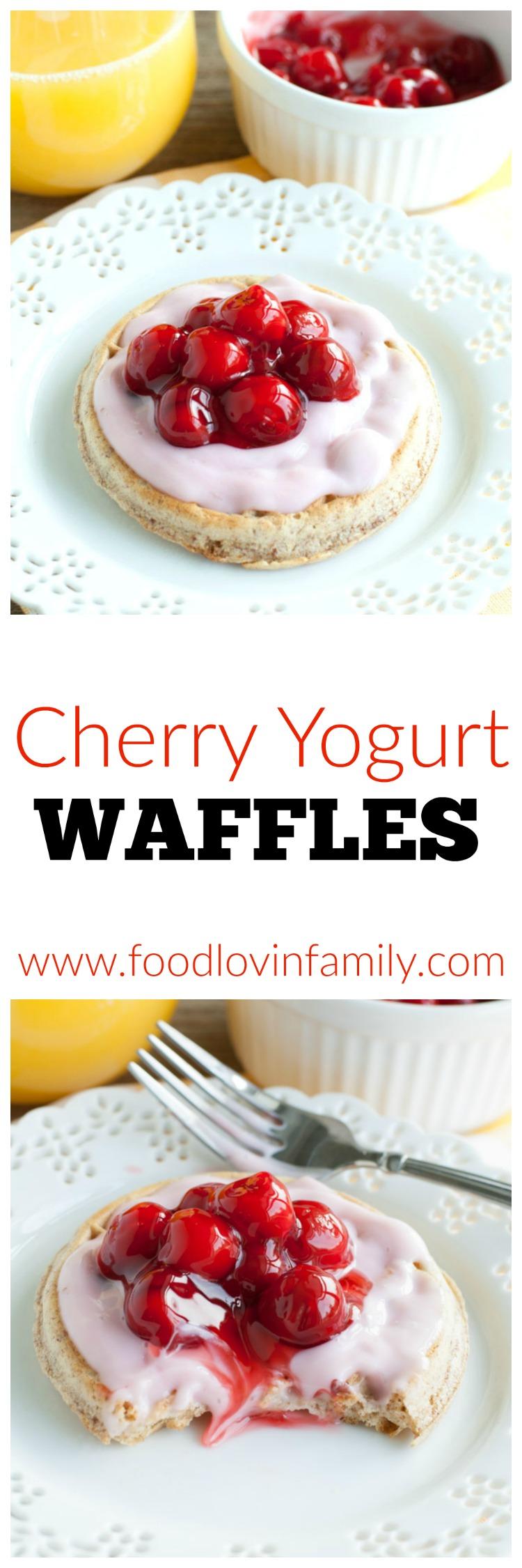 Cherry Yogurt Waffles PIN
