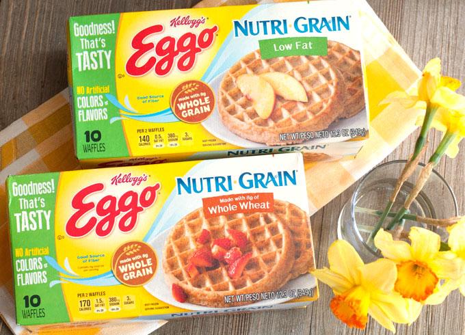 Cherry Yogurt Waffles Eggo Box