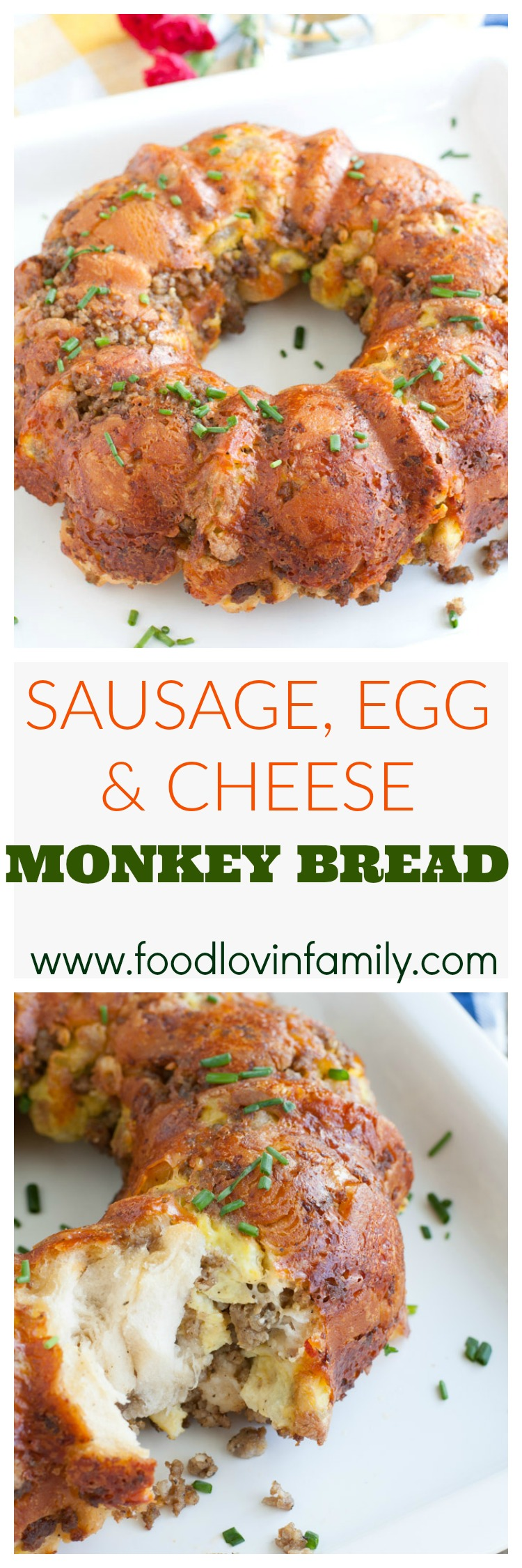 sausage egg and cheese monkey bread pin