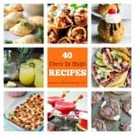 Collage of Cinco De Mayo recipes.