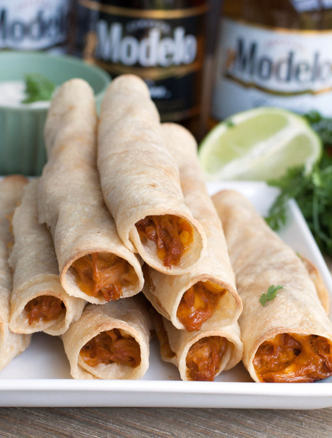BBQ taquitos are a tasty appetizer