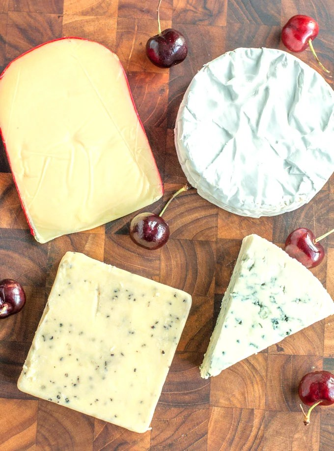 Summer cheese board- cheeses