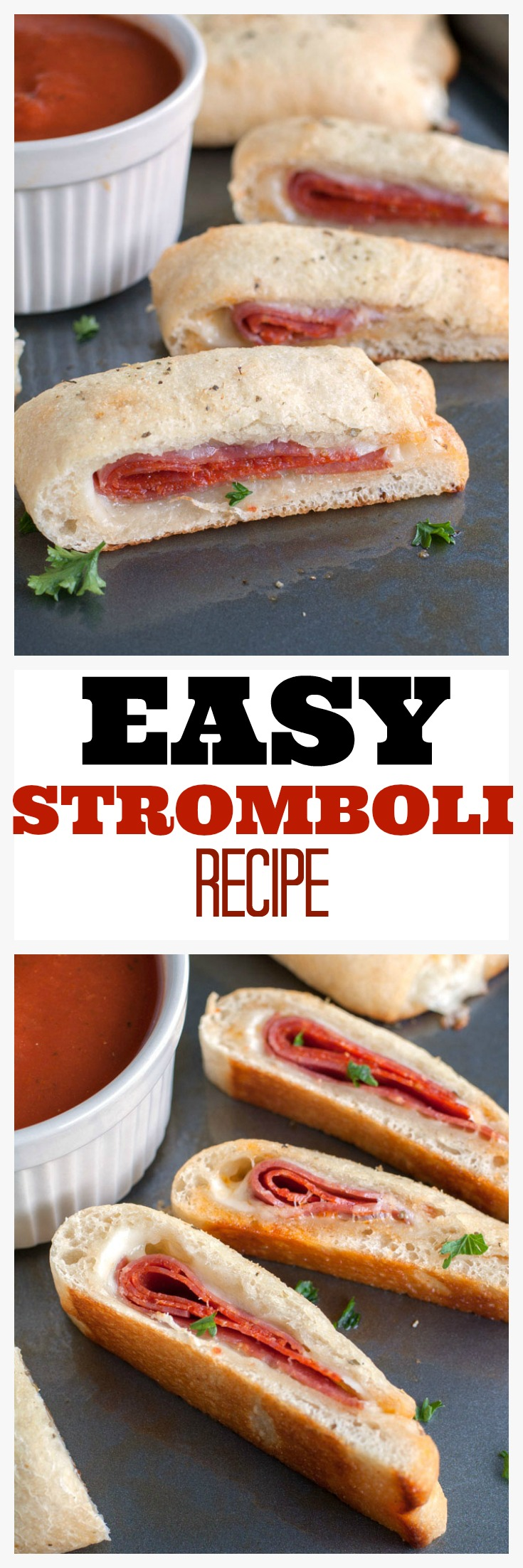 easy stromboli recipe PIN