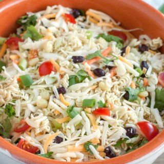 Ramen Noodle Taco Salad