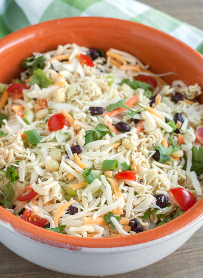 Ramen Noodle Taco Salad is a crunchy twist on a classic.