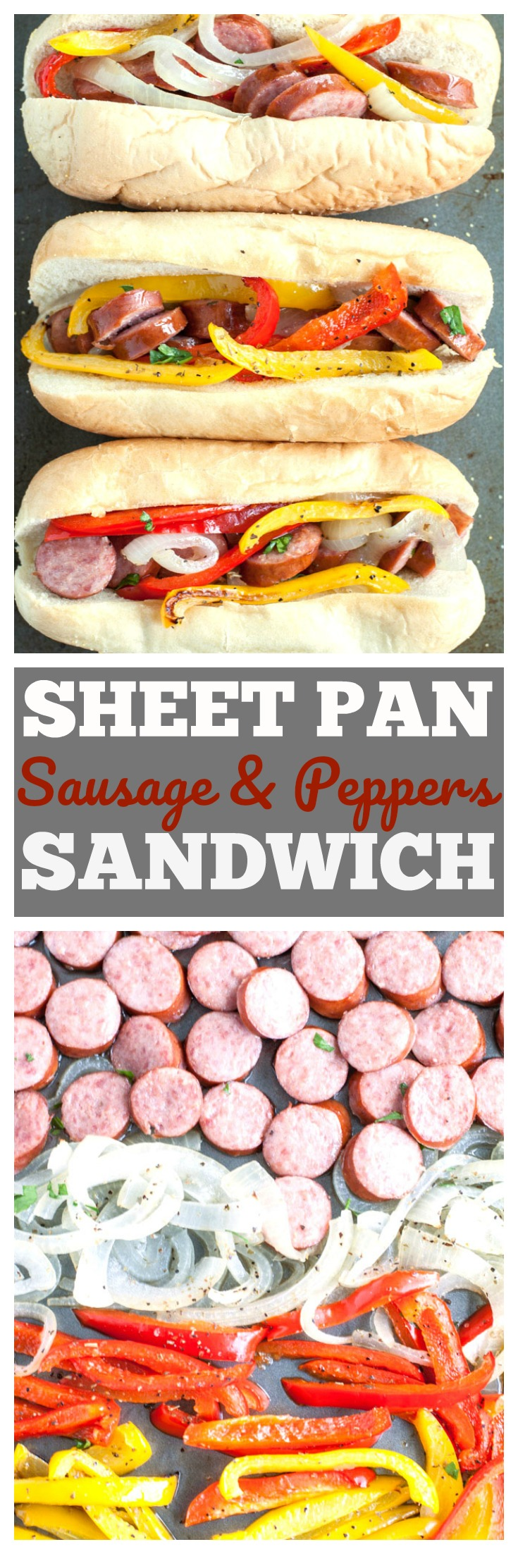 sheet pan sausage and pepper sandwiches PIN