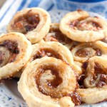 Plate of fig pinwheels.