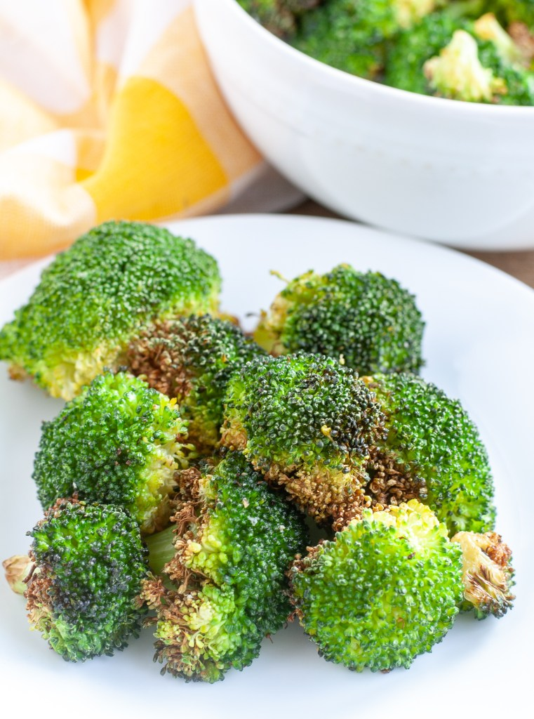 Roasted Broccoli on a plate