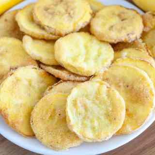 Fried squash on a plate