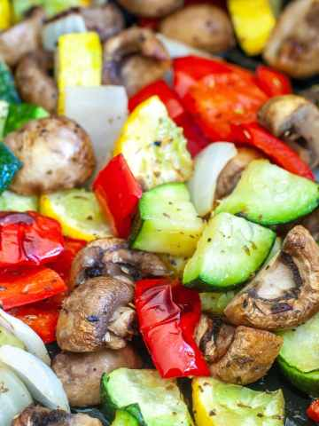 Roasted mixed vegetables.