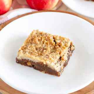 Gingerbread apple bar on a plate