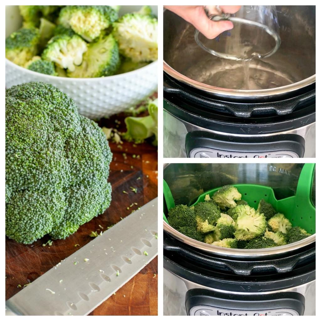 Broccoli beside instant pot