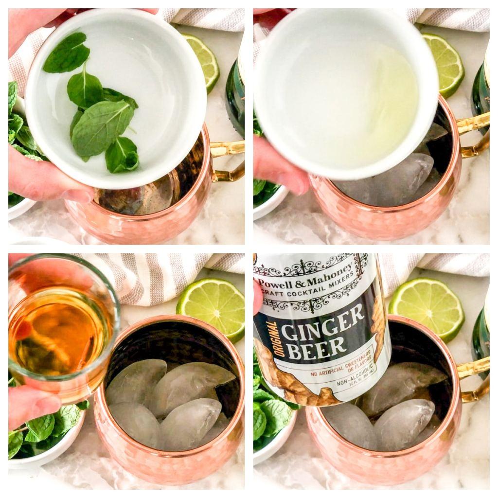 Nane Yaprakları, limon suyu, viski, zencefil birası.