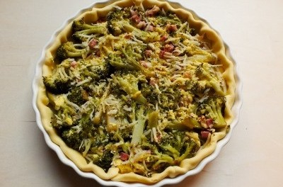Quiche ai broccoli e pancetta