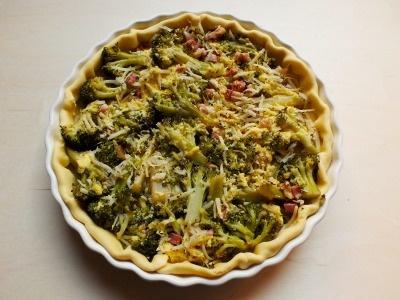 Quiche ai broccoli e pancetta