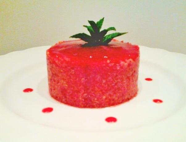 Tortino di quinoa con fragole