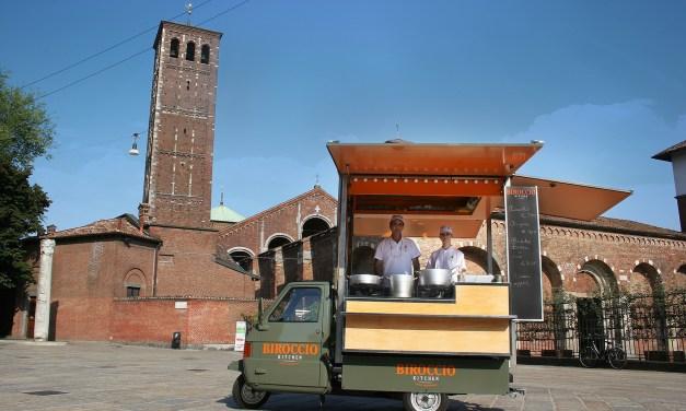 Biroccio Street Food: il risotto alla milanese sfreccia sull'ape car!