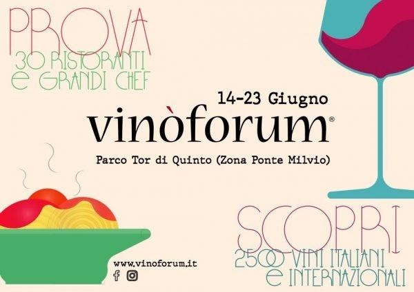 Roma Wine&Food Week : dal 3 al 9 giugno in scena il fuorisalone di Vinòforum
