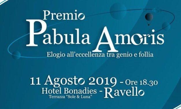 ASSOCIAZIONE PABULUM A RAVELLO:  PREMIO PABULA AMORIS ELOGIO ALL'ECCELLENZA