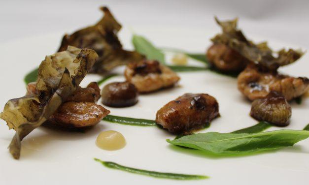 ANIMELLA IN AUTUNNO – Animelle di agnello lattante, cipollotti, tarassaco, corteccia di topinambur – by Vito Pastore
