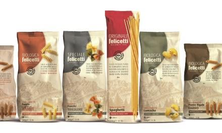 Rebranding e nuovo packaging 100% carta per il Pastificio Felicetti