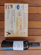 Scabi Sangiovese superiore 2019, medaglia d'oro Vini biologici 2021, premiato vino dell'Amarcord.