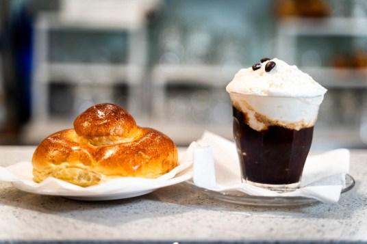 Granita caffè con panna