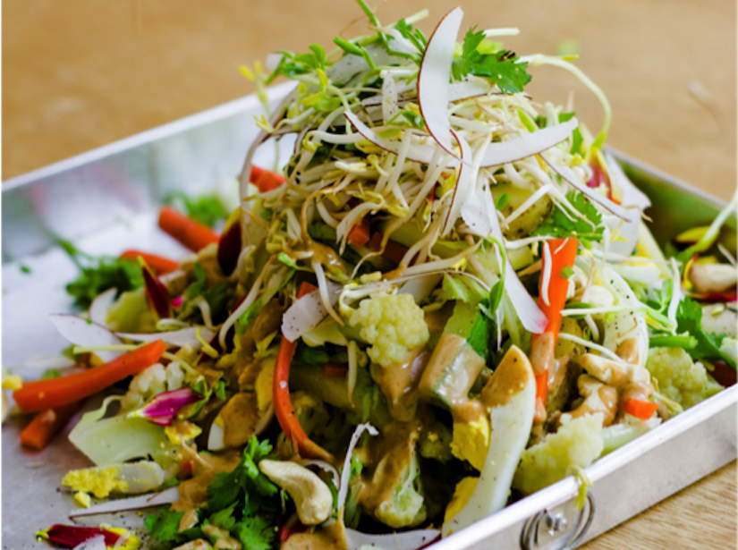 Gado Gado With Almond Satay Sauce (Recipe)