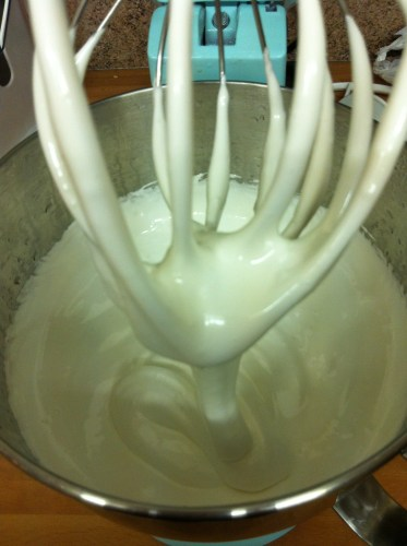 Whisking Homemade Marshmallows