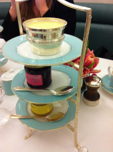 Jam and Cream at Fortnum and Mason Afternoon Tea