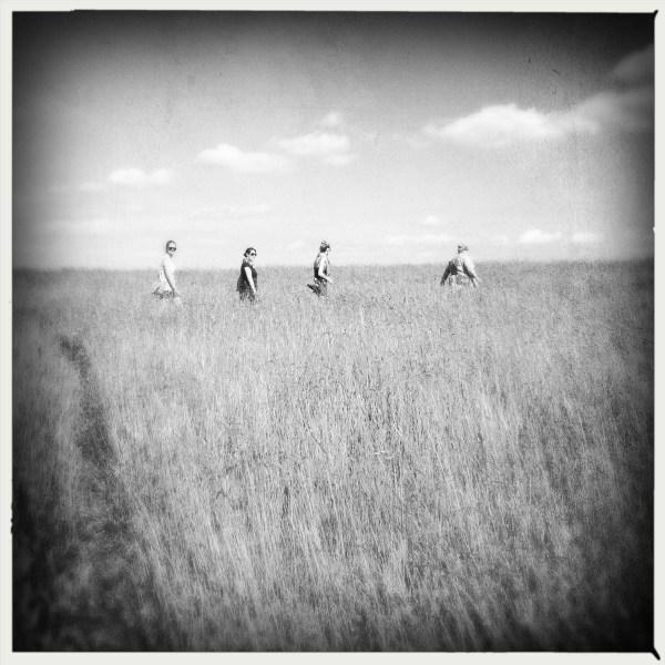 Walking in the beautiful meadow