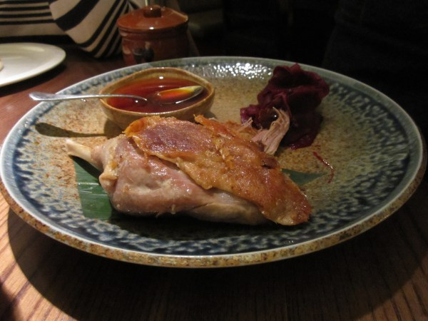 Confit Duck Leg at Flesh and Buns, London
