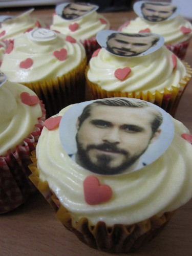 Ryan Gosling Cupcakes