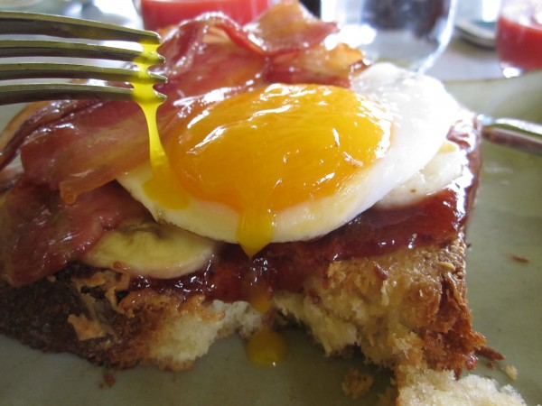 Toasted Fat Boy PBJ at Duck and Waffle, London