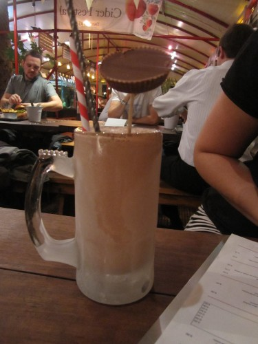Reese's Peanut Butter Cup Milkshake at Three Brothers Burgers