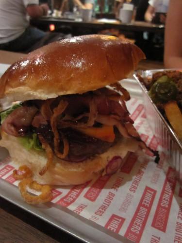 The Smokey Bro Burger at Three Brothers Burgers, Bristol