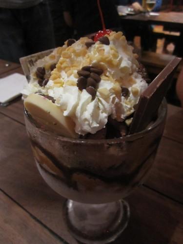 Ice Cream Sundae at Three Brothers Burgers, Bristol