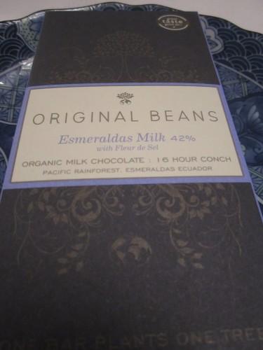 Original Beans Esmeraldas Milk Chocolate Bar