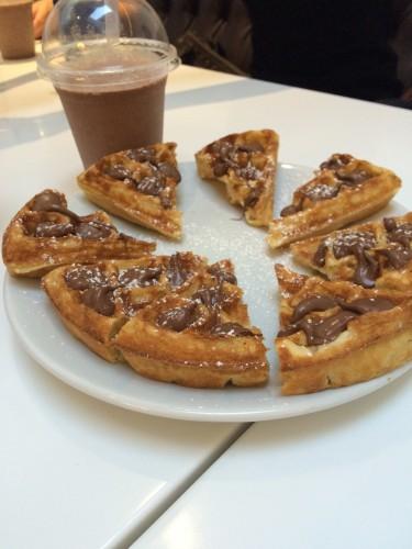 Chocolate Waffle at Snowflake, London
