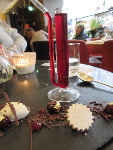 Mad Hatters Black Forrest Gateaux at Dessert Bar at Cafe Royal, London